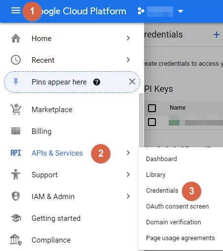 Google APIs Credentials 1
