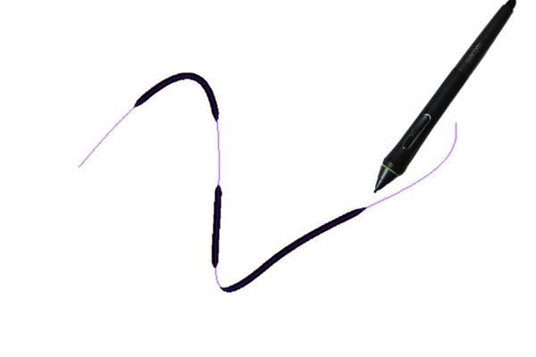 クリスタ曲線定規を利用した描画