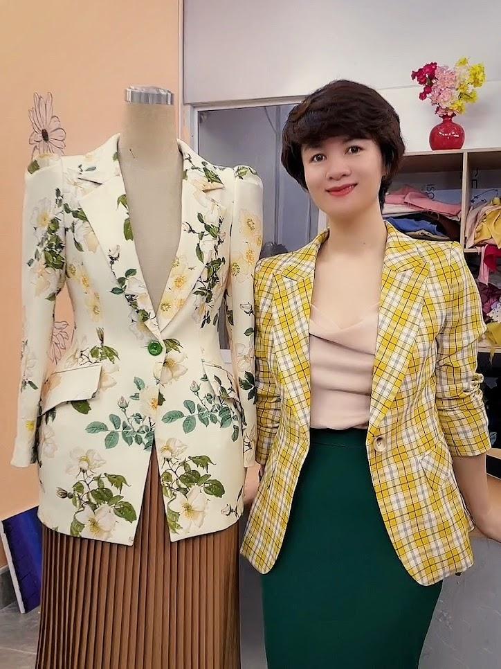 áo vest nữ dáng eo thiết kế phồng hông mặc đẹp thời trang thủy đà nẵng