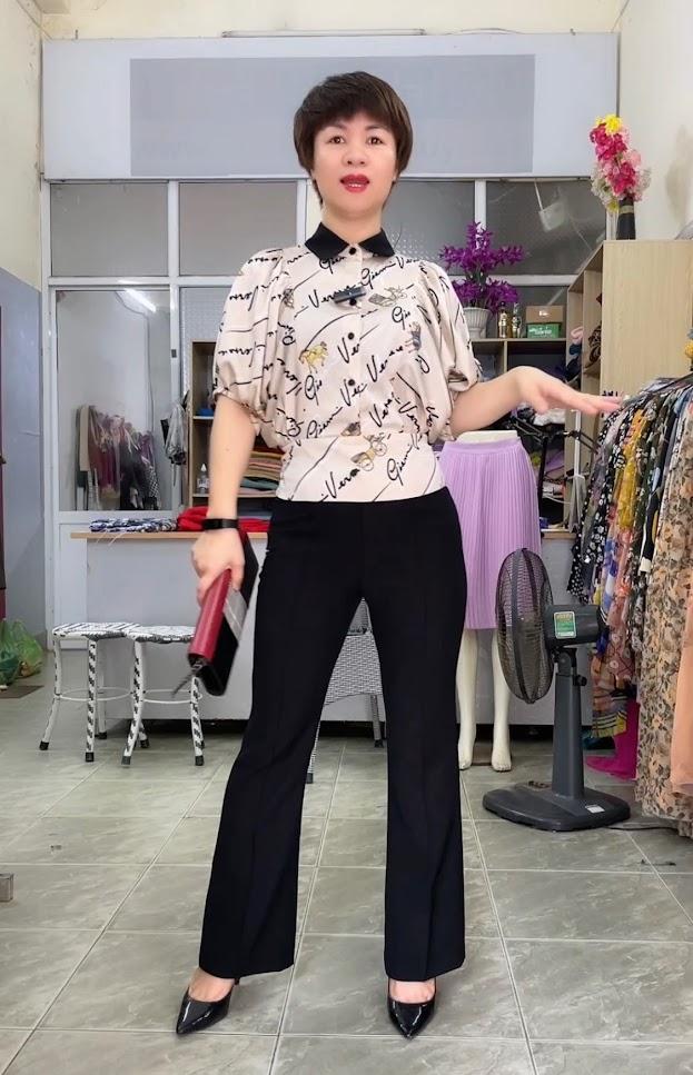 áo sơ mi nữ công sở phối đồ mặc đẹp quần nữ ống vẩy thời trang thủy nam định