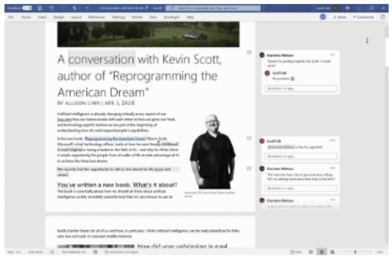 MC240613: Better collaboration with modern comments in Word for Mac