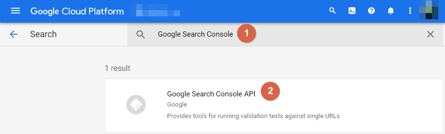 Google Cloud Platform Keyword Search