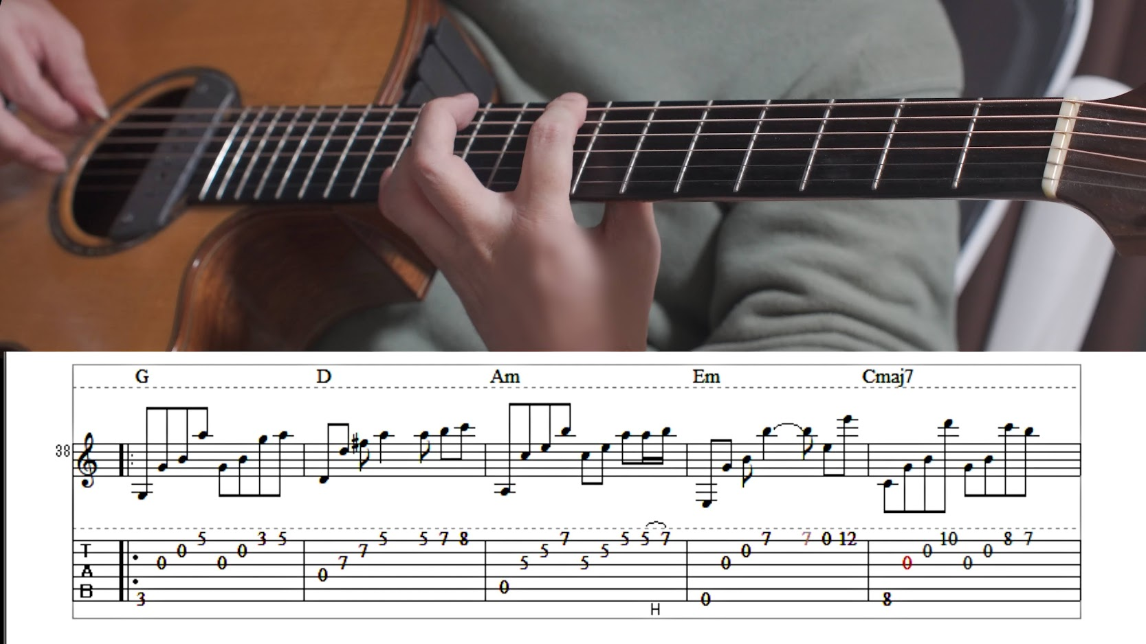 癒しのSolo Guitar「Autumn night」TAB譜付