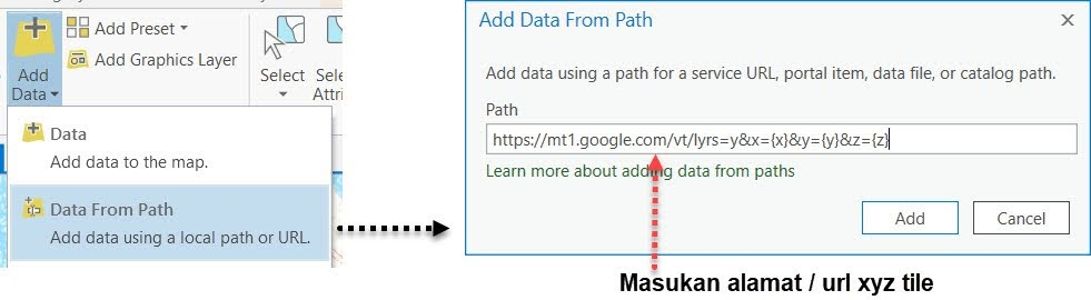 Tools Data From Path di ArcGIS Pro