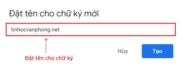 tạo chữ ký Gmail đẹp online