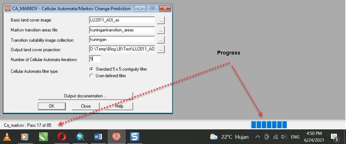 Progress CA Markov