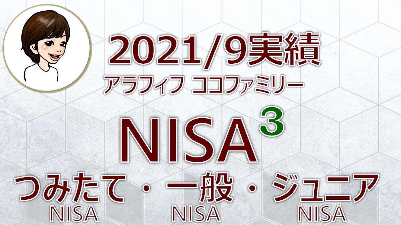 アラフィフ主婦ココファミリーの楽天証券のNISA口座2021年9月度実績