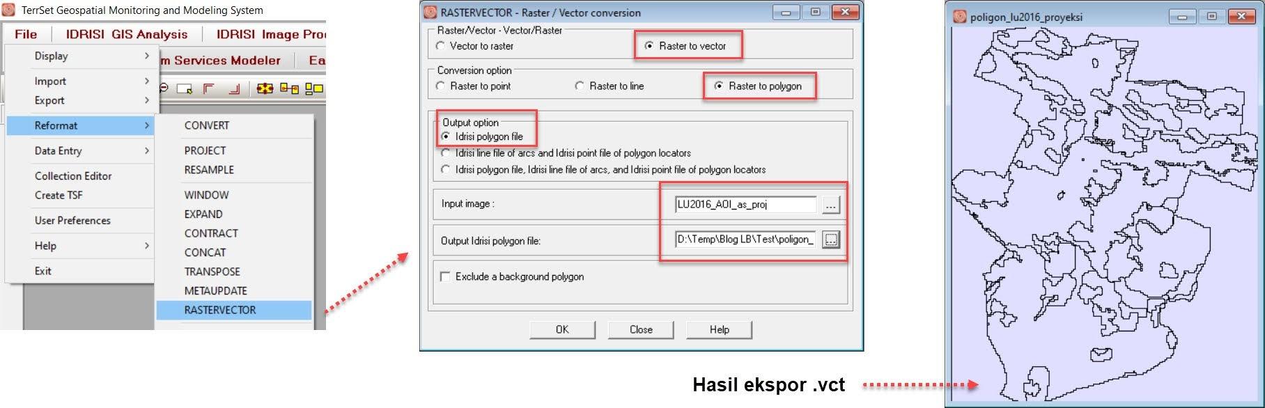 Proses raster to vector
