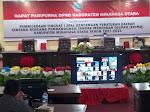 DPRD Minut Paripurnakan RPJMD Tahun 2021-2026