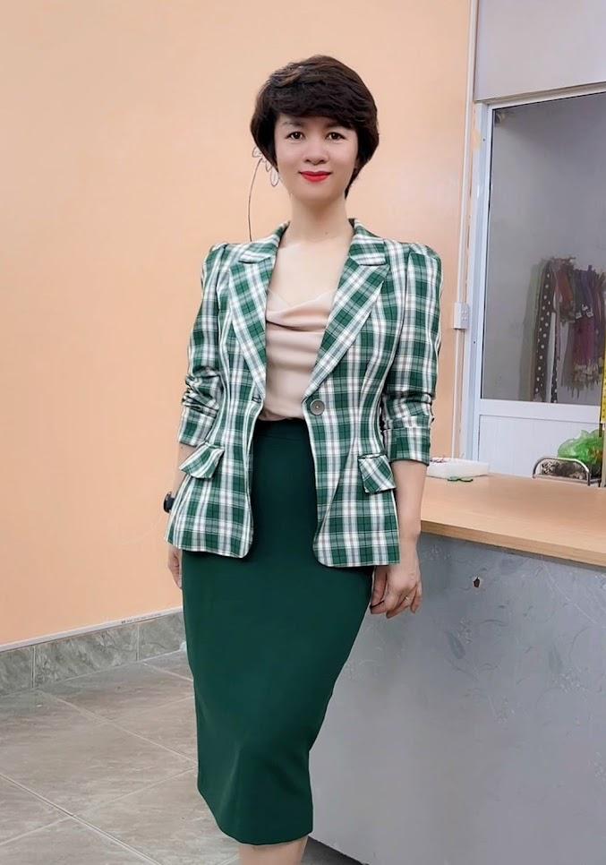 áo vest nữ công sở phồng hông dáng ngắn thời trang thủy kiến an