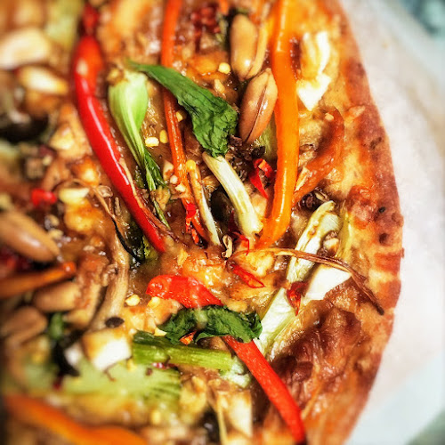 Stir Fry Pizza,  Gong Bao Chicken Pizza, kung pao chicken pizza, chinese, pizza, recipe,  宮保雞丁比薩, 宮保雞丁, 比薩