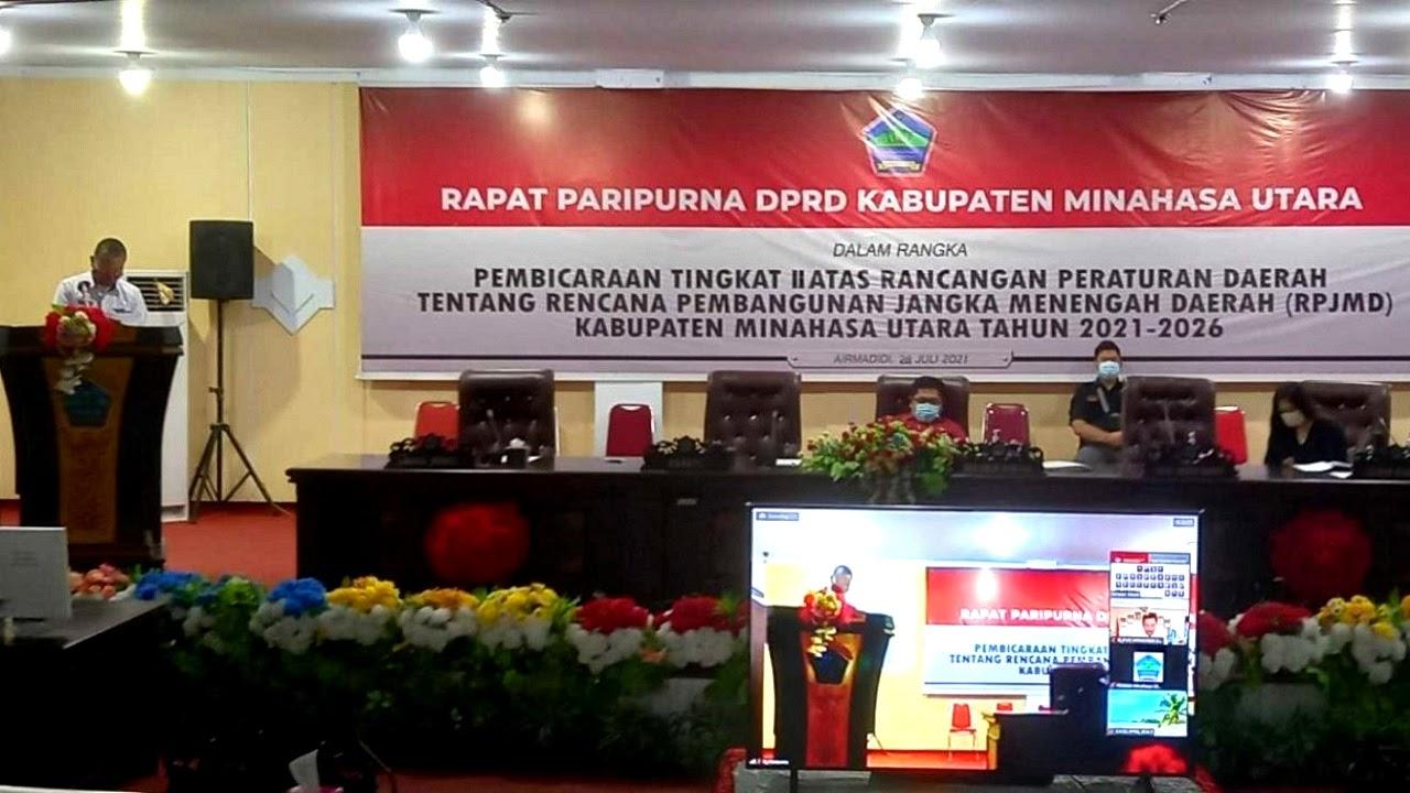 Diparipurnakan, DPRD Minut Sahkan RPJMD 2021-2026