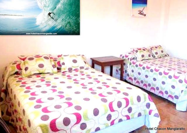 Habitacion triples Hotel Chacon Manglaralto Ruta del Sol