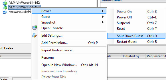 If it has VMware Tools installed, you can trigger a Shutdown OS option from the VM menu.