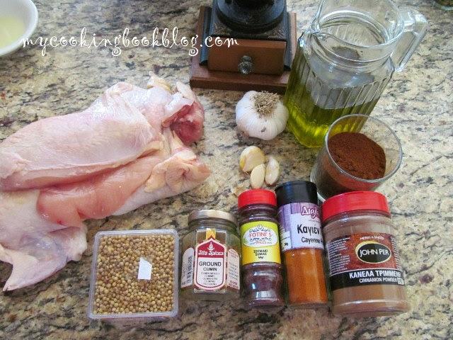 Гирос (Gyros) на фурна с пилешко месо - продукти