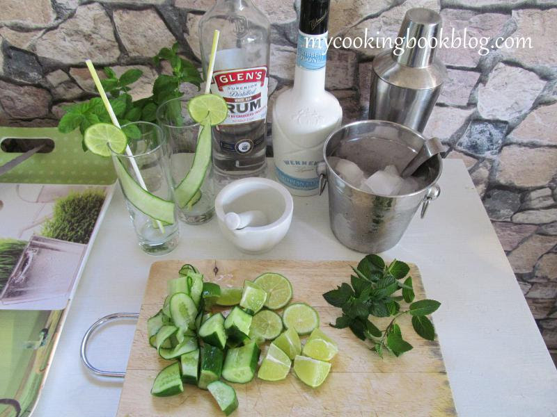 продукти за Коктейл Мохито (Mojito) с краставица