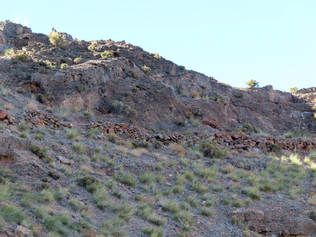 Below the miner's trail