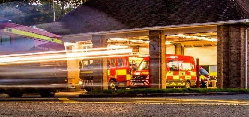 Railway carriage destroyed in Llanymynech blaze