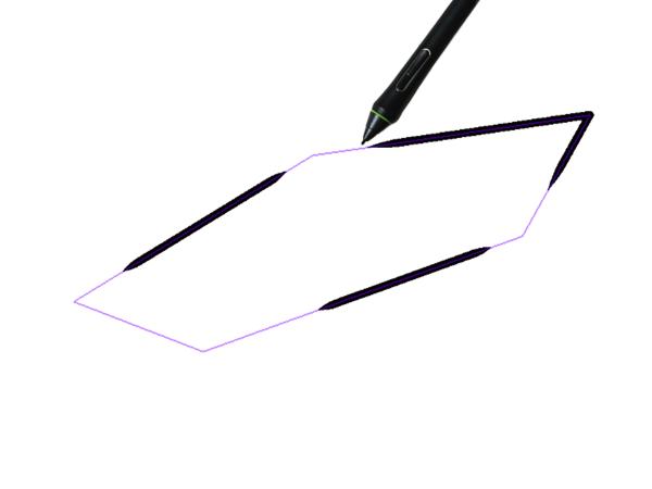 クリスタ図形定規を利用した描画