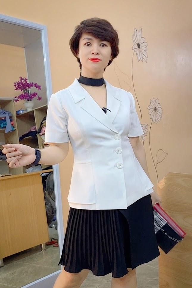 áo peplum che bụng phối đồ công sở váy xòe mặc đẹp thời trang thủy cát bà
