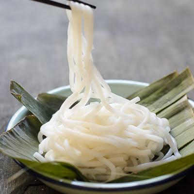 Homemade Rice Flour Laksa Noodles