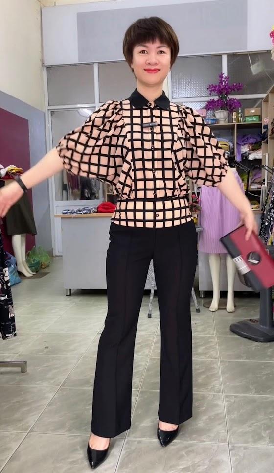 áo sơ mi nữ công sở phối đồ mặc đẹp quần nữ ống vẩy thời trang thủy đà nẵng