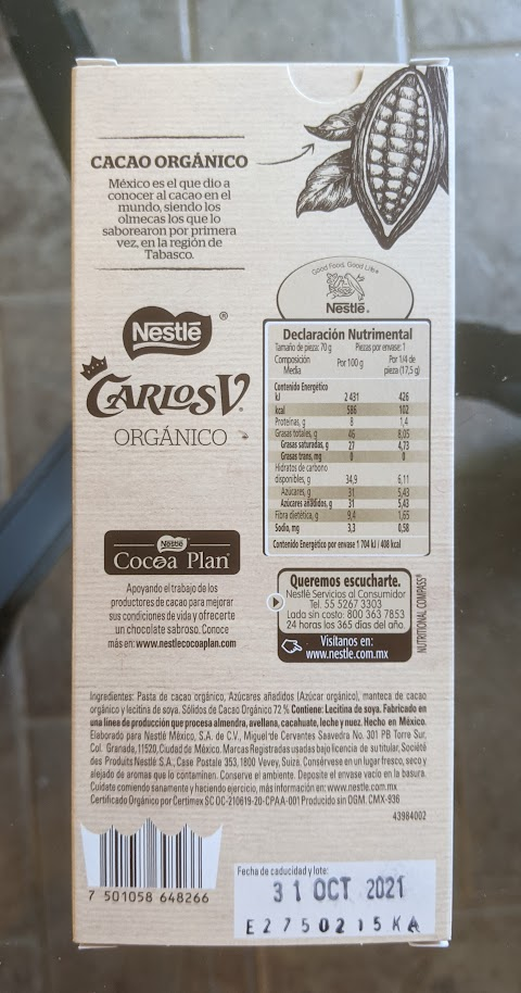 72% carlosv nestle bar