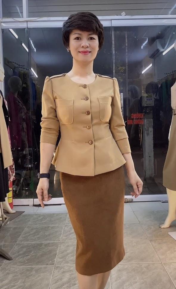 Áo Peplum che bụng phối đồ công sở dạo phố V800 thời trang thủy hải phòng 2