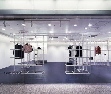thiết kế cửa hàng quần áo đơn giản