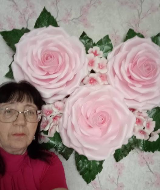 Полозникова Зинаида Николаевна, «Розовые розы»