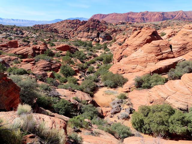 Skirting around a small canyon
