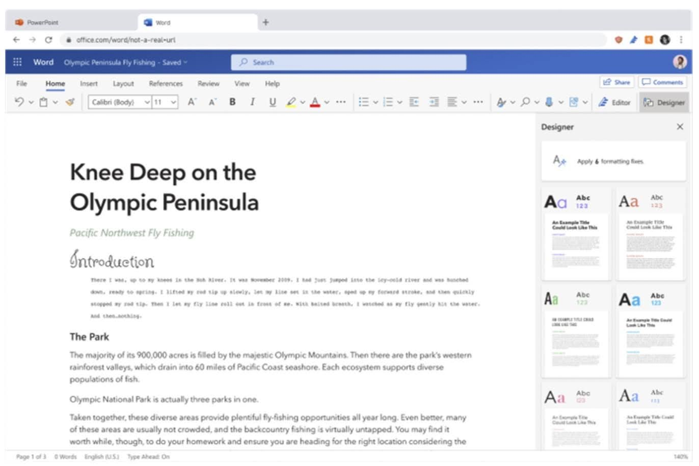 Apply formatting fixes by clicking on a button at the top of the pane or allow formatting fixes to be applied automatically when selecting a theme.