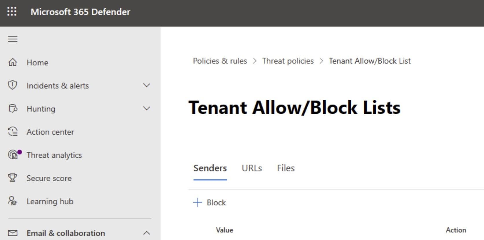MC267137: Microsoft Defender for Office 365: Creating allow URLs and Files in the Tenant Allow/Block List (TABL)