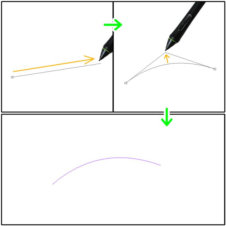 クリスタ直線定規(2次ベジェ)の設置