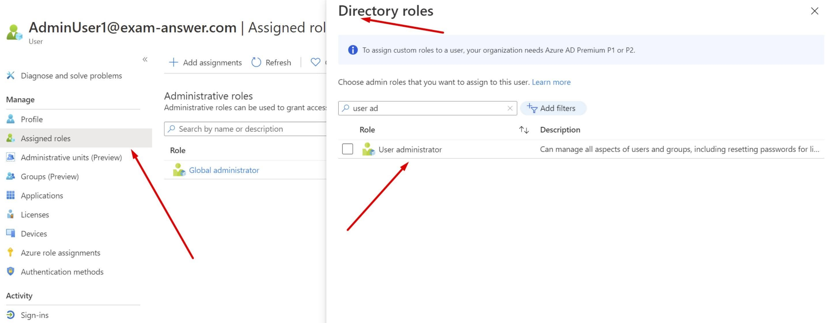 Assign a role to a user