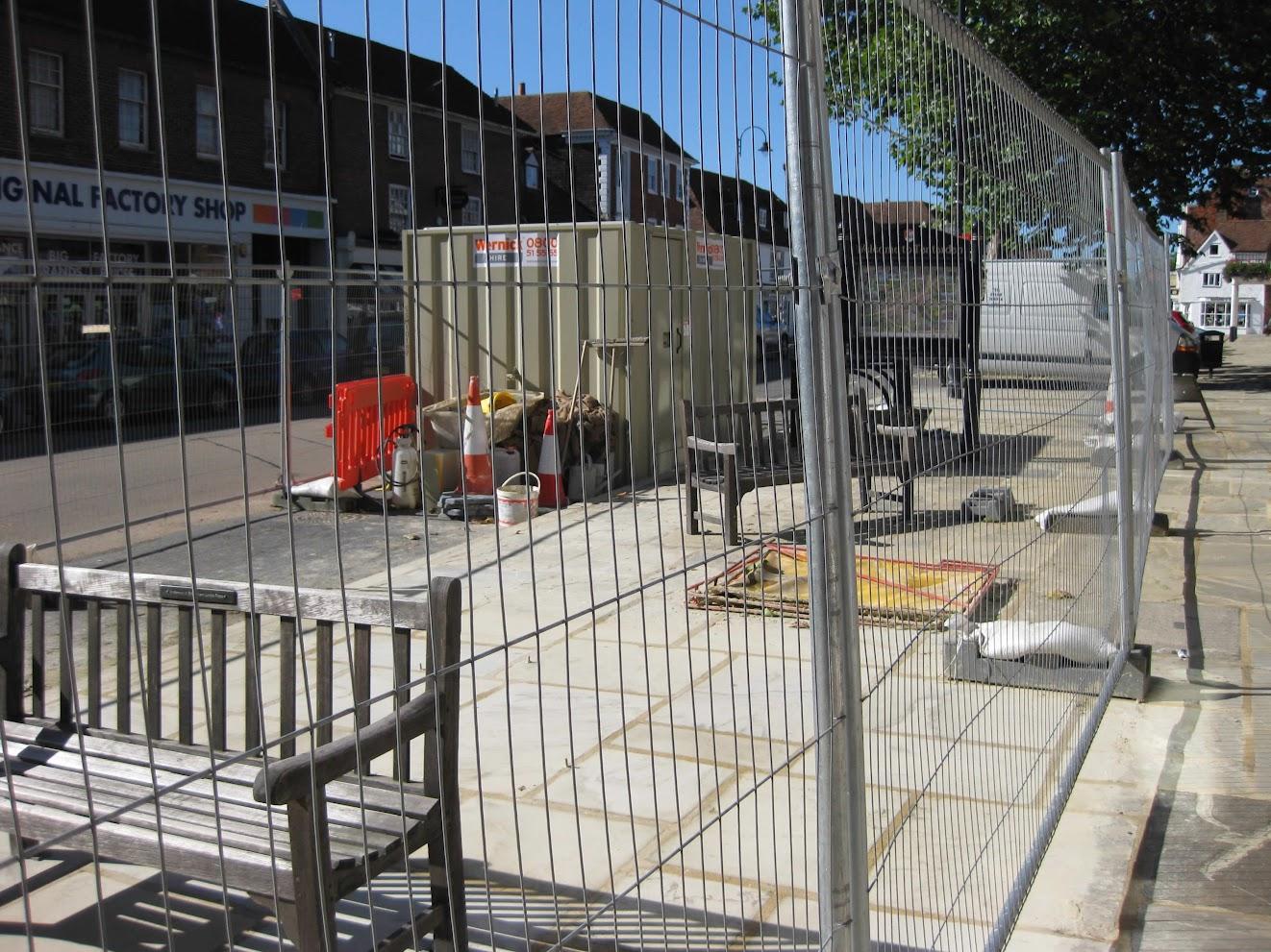 Tenterden High Street Yorkstone paving