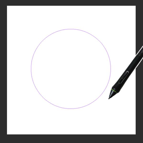 クリスタで図形定規(楕円)を設置