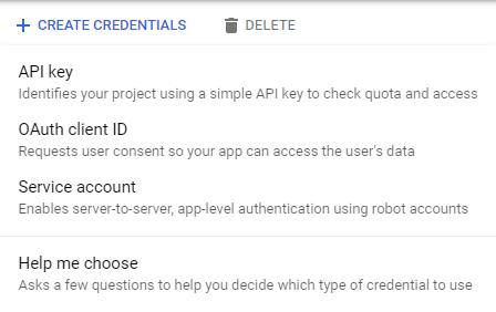 Google APIs Credentials