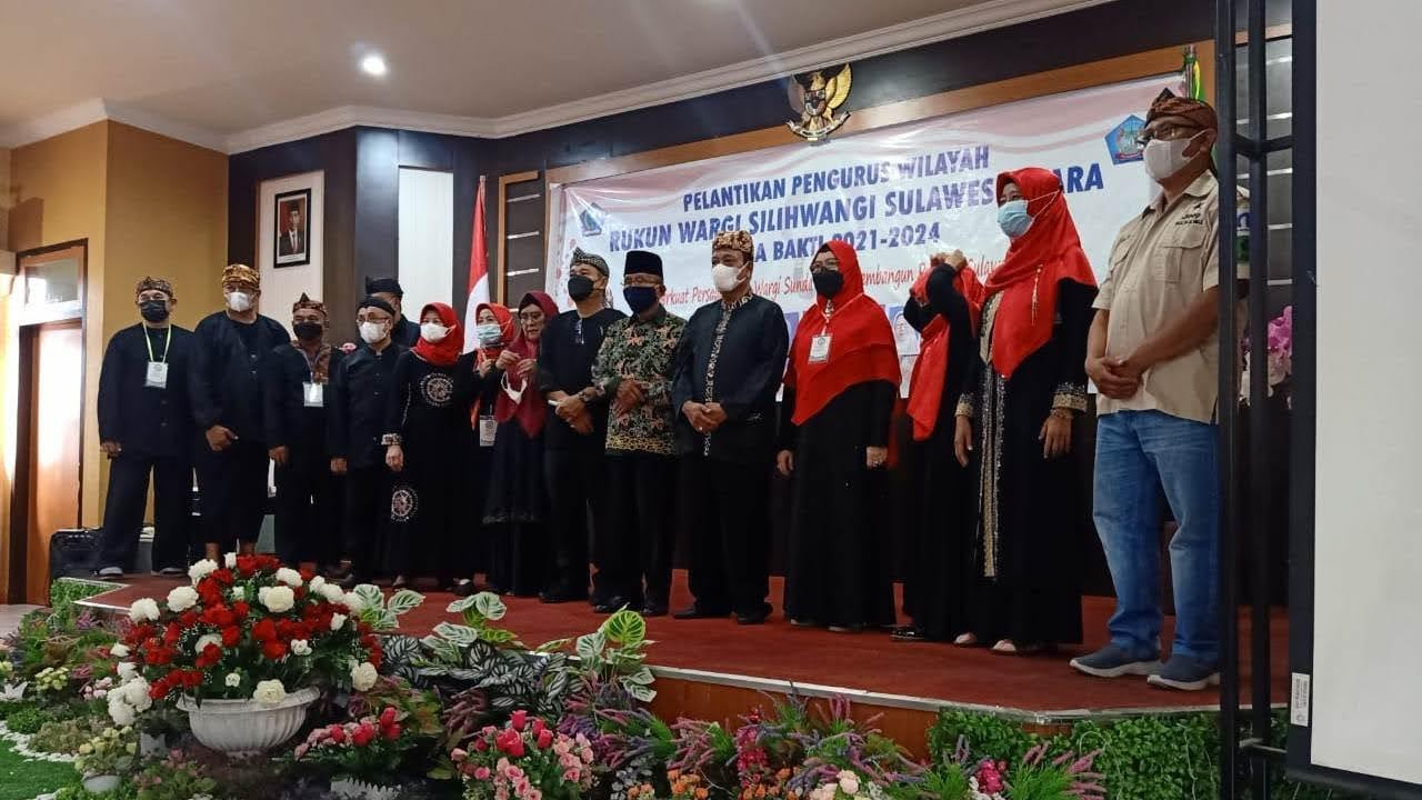 Pelantikan pengurus wilayah Rukun Wargi Silihwangi Sulawesi Utara masa bakti 2021-2024