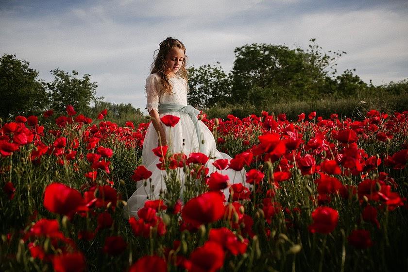 Precomunión entre flores