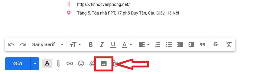 gửi hình ảnh qua gmail