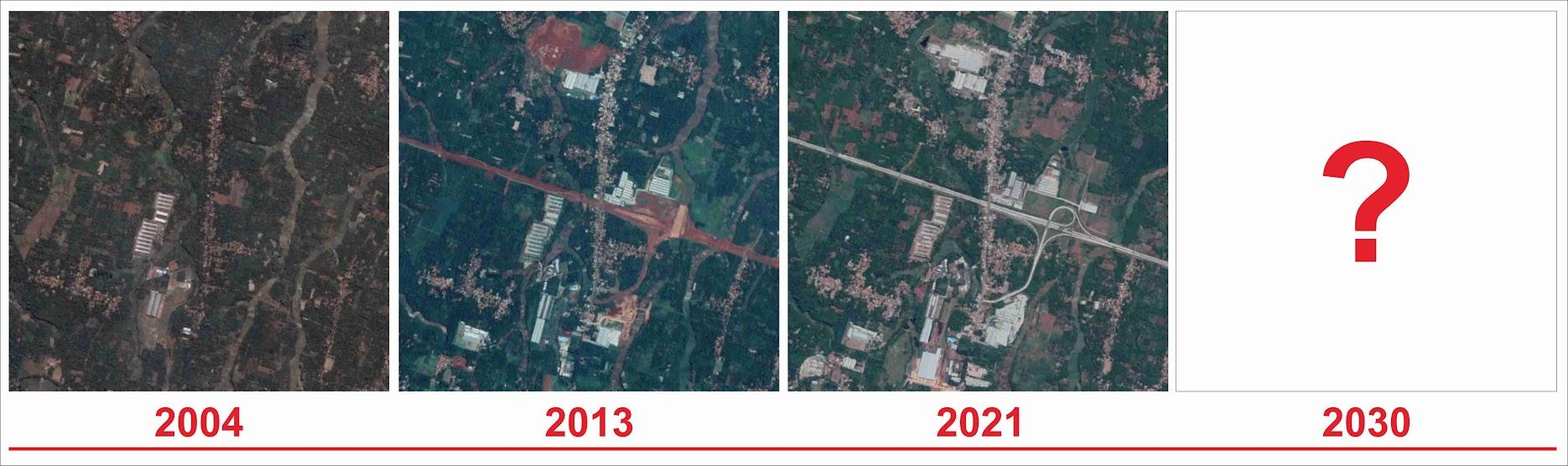 Perubahan tutupan lahan di Kalijati Subang
