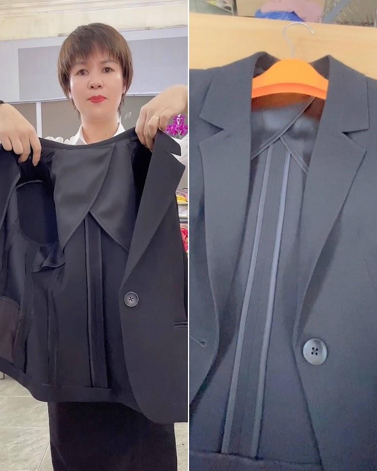 áo vest nữ may bằng 1 lớp vải thời trang thủy hải phòng