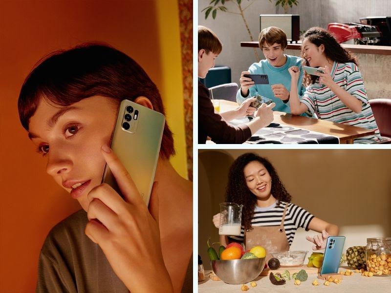 smartphone OPPO Reno6 untuk menunjang produktivitas pembuatan konten dan main game.