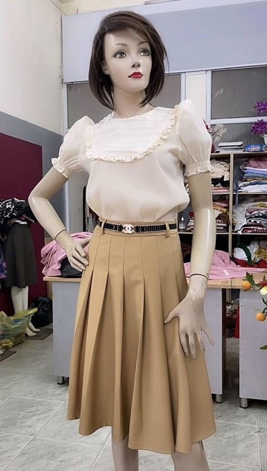 áo sơ mi nữ chân váy xòe công sở thời trang thủy hải phòng 2