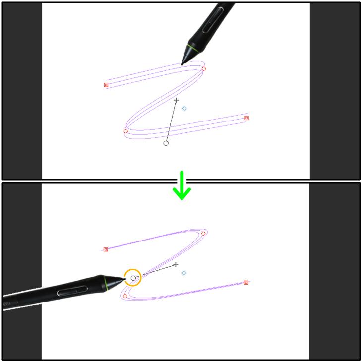 クリスタ特殊定規(多重曲線)の重なり角度を変更