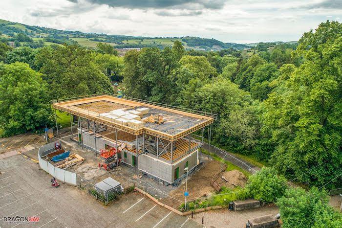New aerial shots show Riverside Venue