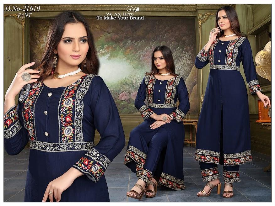Buy Simran Design No 21610 Colour Chart Branded Kurta Pant S
