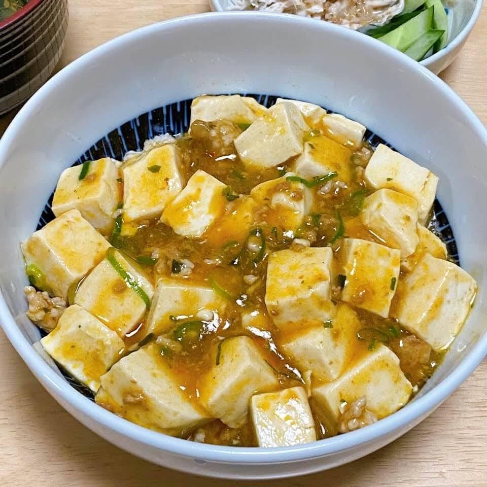 オートミール麻婆豆腐丼
