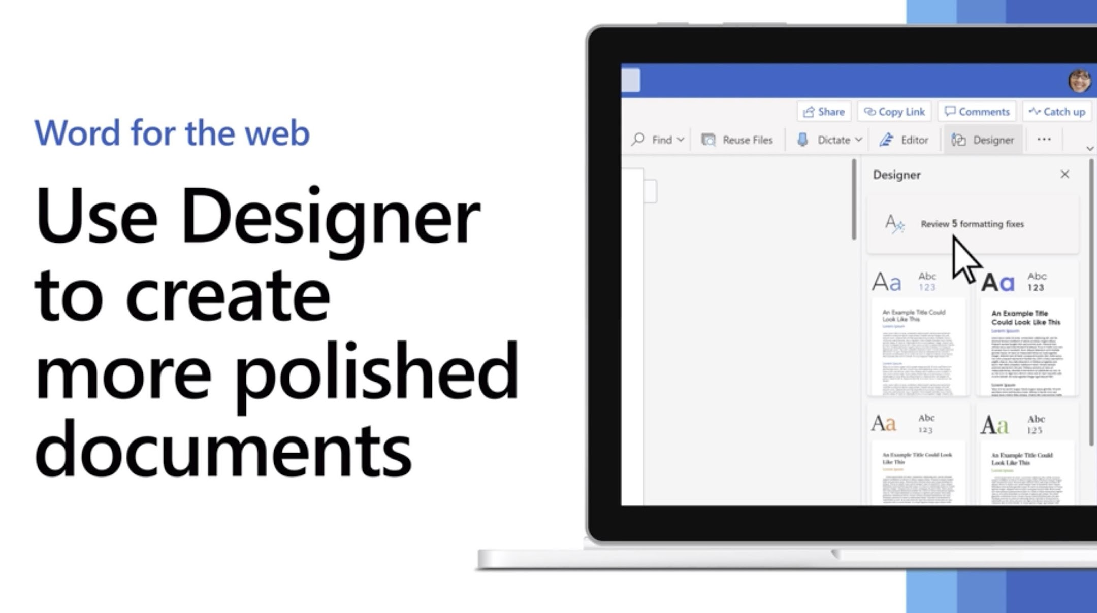 MC223444: Introducing Designer in Word for Web